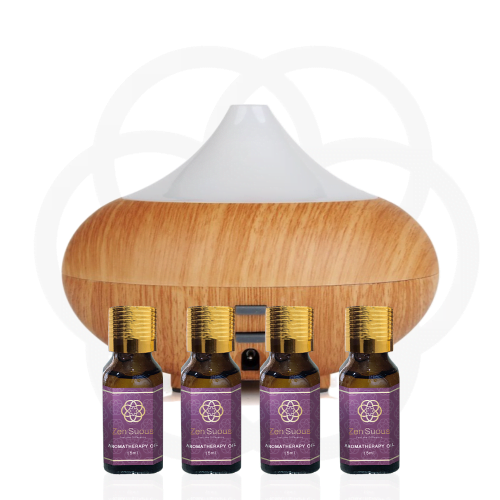 ZenSuous Ultrasonic Aromatherapy Diffuser with 4 Aromatherapy oil 15ml